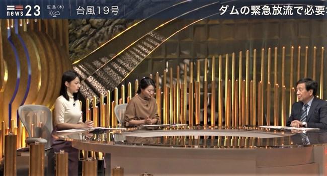山本恵里伽~NEWS23で小川彩佳アナを軽く凌駕する凄いオッパイ強調の姿!0008shikogin