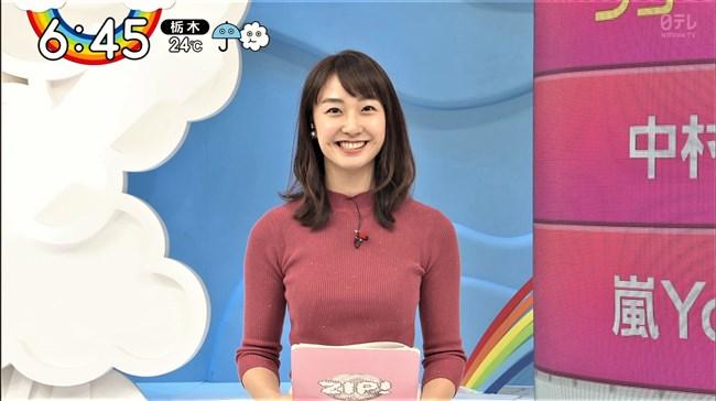 杉原凜~ZIP!でのピチピチのニット服姿で胸の盛り上がりを強調でエロカワ!0009shikogin