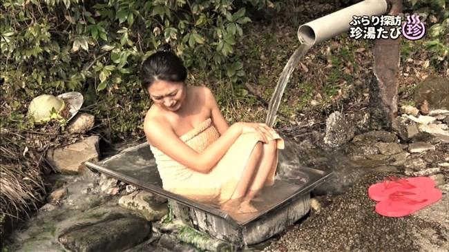 川村ゆきえ~BSの秘湯ツアー番組で見せた美熟女のバスタオル巻きの姿に興奮!0006shikogin