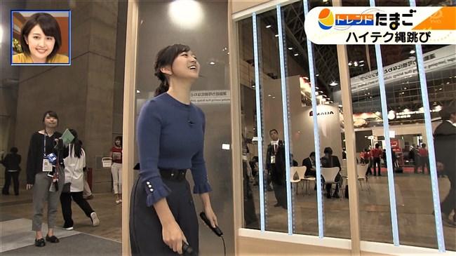 片渕茜~WBSトレンドたまごでのオッパイ強調の縄跳びはエロ過ぎて成人指定!0010shikogin