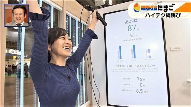 片渕茜~WBSトレンドたまごでのオッパイ強調の縄跳びはエロ過ぎて成人指定!0012shikogin