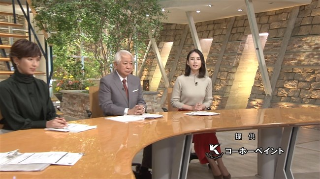 森川夕貴~報道ステーションでの薄いグレー色ニット服の胸の膨らみが柔らかそう!0007shikogin