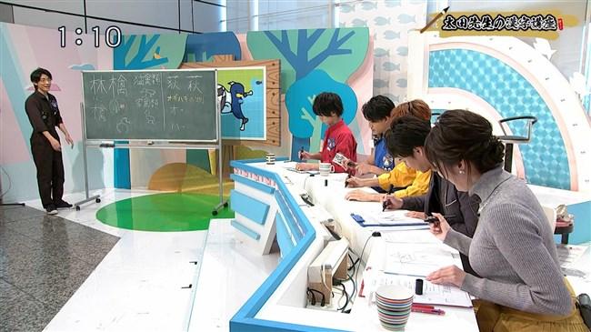 岡村帆奈美~テレビ神奈川の美人アナが目立つようなニット服で視聴者を悩殺!0005shikogin
