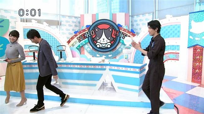 岡村帆奈美~テレビ神奈川の美人アナが目立つようなニット服で視聴者を悩殺!0010shikogin