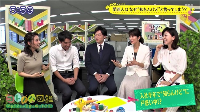 野嶋紗己子~MBSコトノハ図鑑でのニット服の胸の膨らみが悩まし過ぎて硬直!0015shikogin