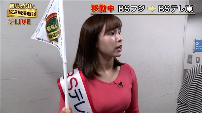 角谷暁子~鶴瓶&安住の放送局漫遊記での巨乳な胸の膨らみが凄過ぎて驚嘆!0018shikogin