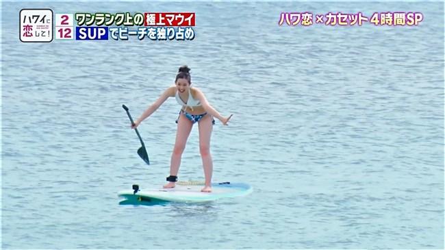 足立梨花~BS12ハワイに恋してで水着姿にて開脚股間をアップで撮られる痴態!0004shikogin