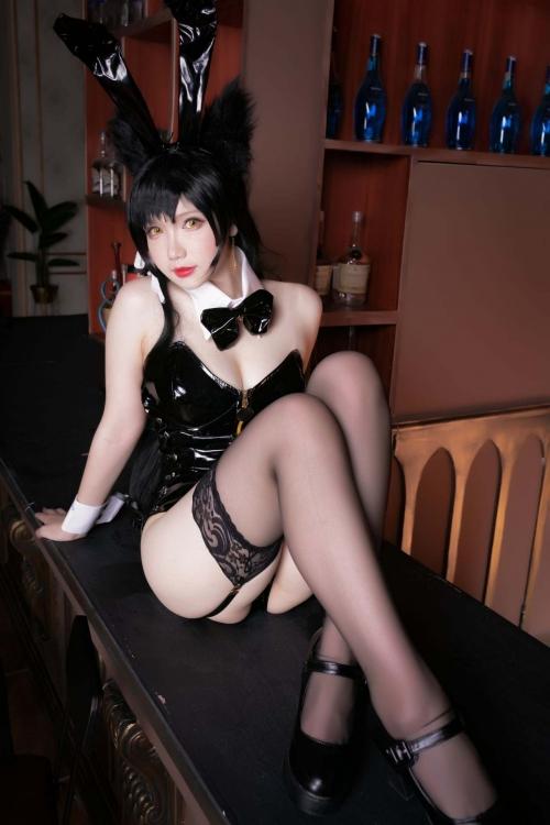 雪晴 Astra アズールレーン 愛宕(Azurlane Atago) Bunny Girl cosplay 01