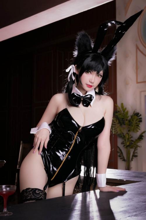 雪晴 Astra アズールレーン 愛宕(Azurlane Atago) Bunny Girl cosplay 02