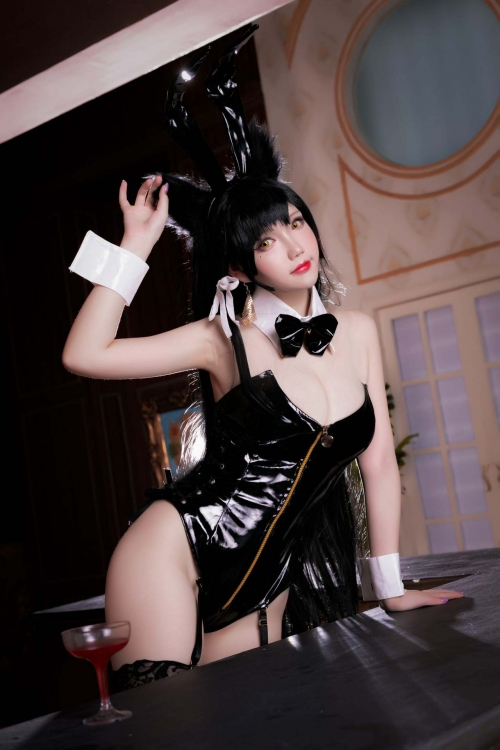 雪晴 Astra アズールレーン 愛宕(Azurlane Atago) Bunny Girl cosplay 03
