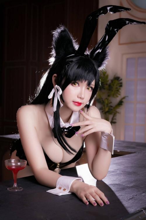 雪晴 Astra アズールレーン 愛宕(Azurlane Atago) Bunny Girl cosplay 05