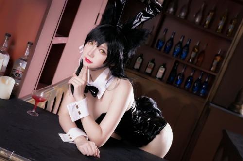 雪晴 Astra アズールレーン 愛宕(Azurlane Atago) Bunny Girl cosplay 06