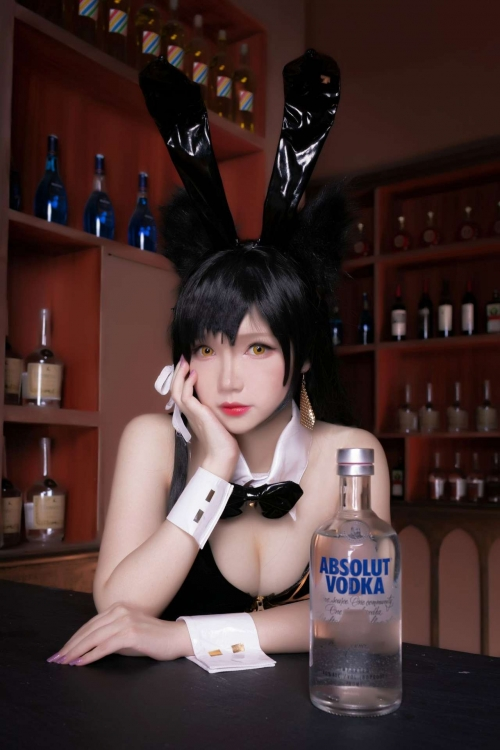 雪晴 Astra アズールレーン 愛宕(Azurlane Atago) Bunny Girl cosplay 10