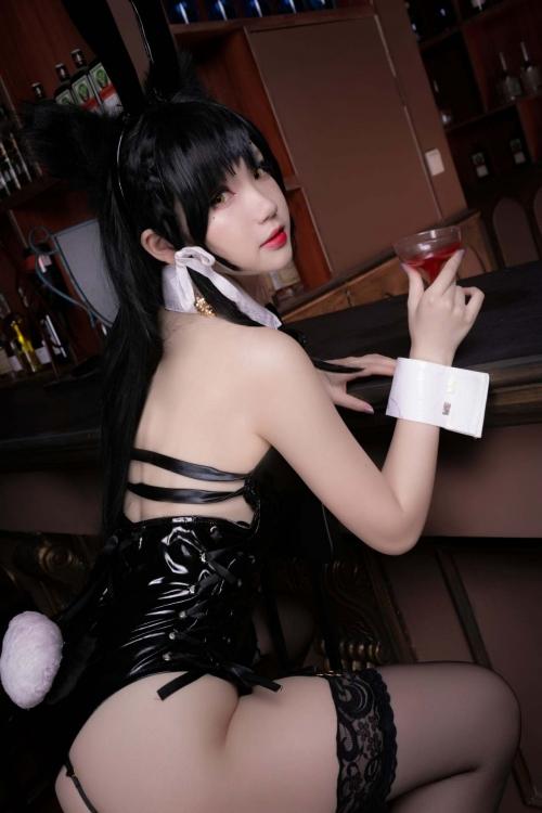 雪晴 Astra アズールレーン 愛宕(Azurlane Atago) Bunny Girl cosplay 12