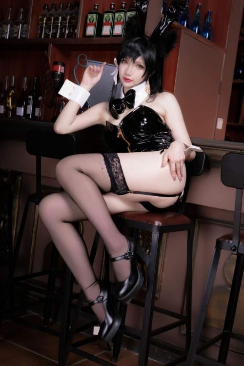 雪晴 Astra アズールレーン 愛宕(Azurlane Atago) Bunny Girl cosplay 28