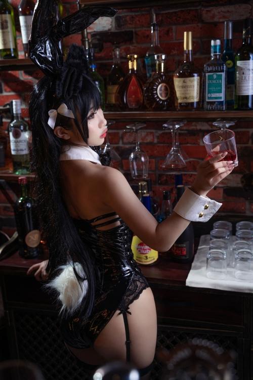 [鬼畜瑤]碧藍航線愛宕 アズールレーン 愛宕(Azurlane Atago) Bunny Girl cosplay 32