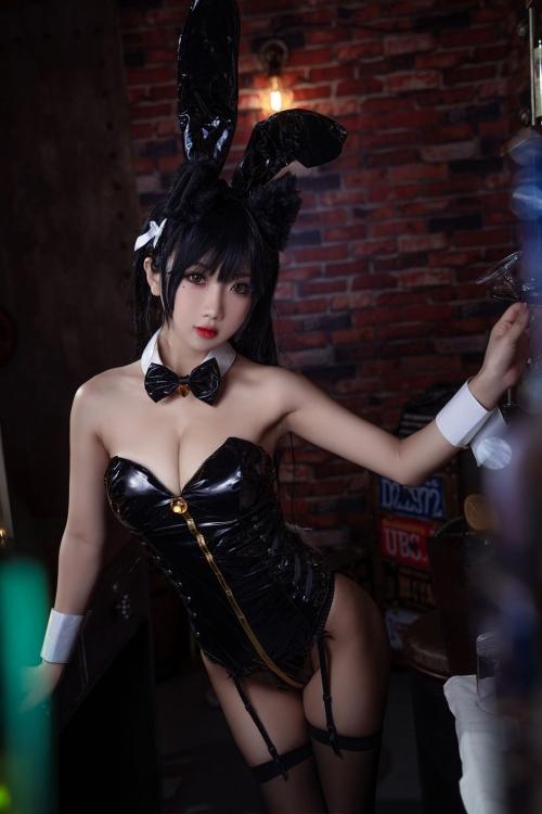 [鬼畜瑤]碧藍航線愛宕 アズールレーン 愛宕(Azurlane Atago) Bunny Girl cosplay 34