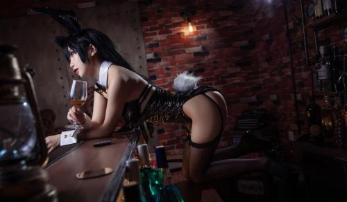 [鬼畜瑤]碧藍航線愛宕 アズールレーン 愛宕(Azurlane Atago) Bunny Girl cosplay 37