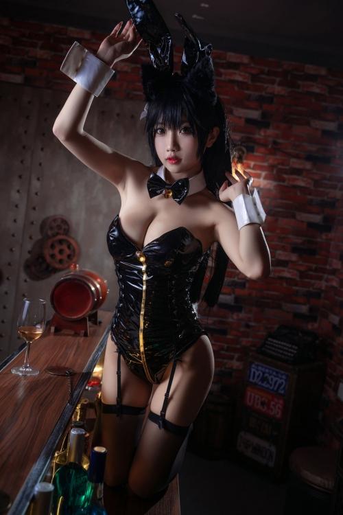 [鬼畜瑤]碧藍航線愛宕 アズールレーン 愛宕(Azurlane Atago) Bunny Girl cosplay 39