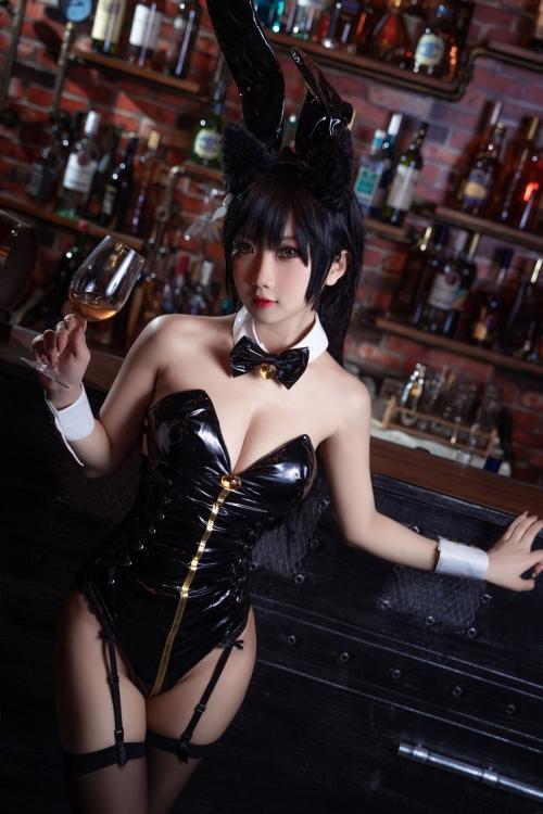 [鬼畜瑤]碧藍航線愛宕 アズールレーン 愛宕(Azurlane Atago) Bunny Girl cosplay 41