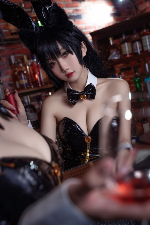 [鬼畜瑤]碧藍航線愛宕 アズールレーン 愛宕(Azurlane Atago) Bunny Girl cosplay 43