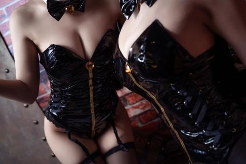 [鬼畜瑤]碧藍航線愛宕 アズールレーン 愛宕(Azurlane Atago) Bunny Girl cosplay 44