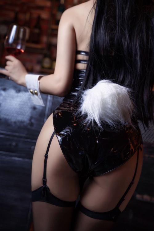 [鬼畜瑤]碧藍航線愛宕 アズールレーン 愛宕(Azurlane Atago) Bunny Girl cosplay 46