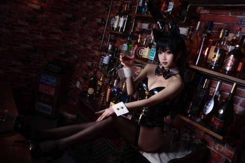 [鬼畜瑤]碧藍航線愛宕 アズールレーン 愛宕(Azurlane Atago) Bunny Girl cosplay 48