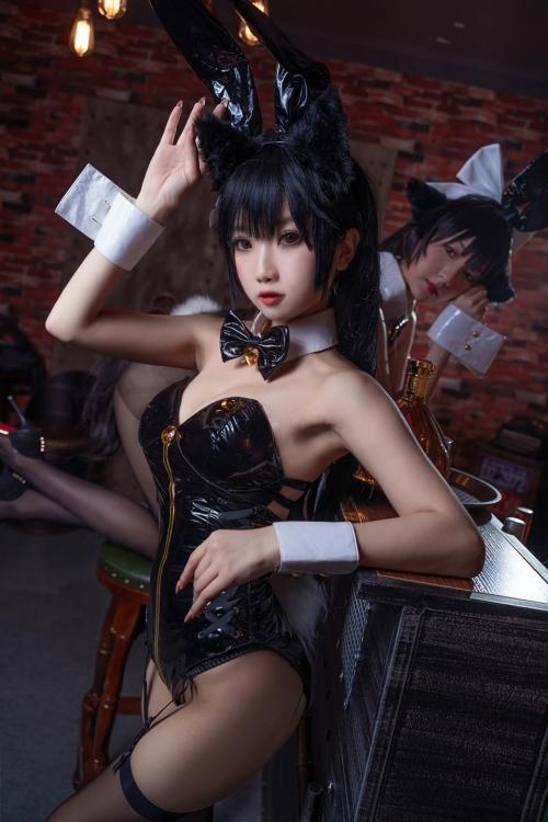 [鬼畜瑤]碧藍航線愛宕 アズールレーン 愛宕(Azurlane Atago) Bunny Girl cosplay 49