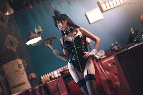 迷失人形 陪酒女郎 アズールレーン 愛宕(Azurlane Atago) Bunny Girl cosplay 55