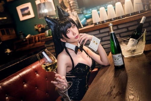 迷失人形 陪酒女郎 アズールレーン 愛宕(Azurlane Atago) Bunny Girl cosplay 57