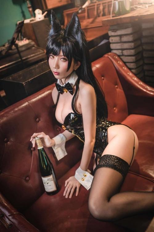 迷失人形 陪酒女郎 アズールレーン 愛宕(Azurlane Atago) Bunny Girl cosplay 61