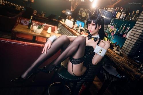 迷失人形 陪酒女郎 アズールレーン 愛宕(Azurlane Atago) Bunny Girl cosplay 63