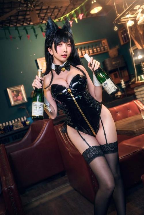 迷失人形 陪酒女郎 アズールレーン 愛宕(Azurlane Atago) Bunny Girl cosplay 67