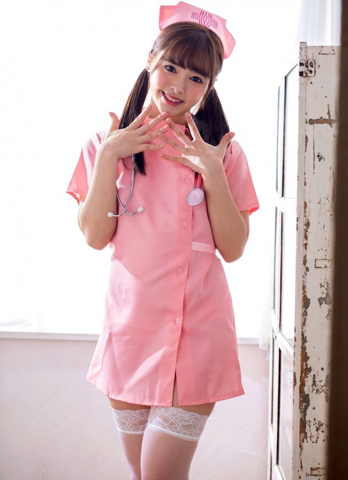 AV女優 小倉由菜 ナースコスプレ Nurse Cosplay 01