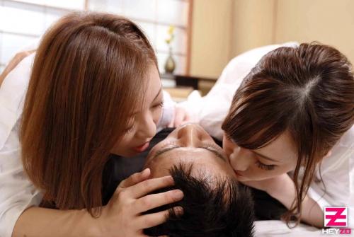 最高すぎる艶美女二人と和室でヤル! すみれ美香 HITOMI(瞳リョウ) 無修正アダルト動画 HEYZO 09
