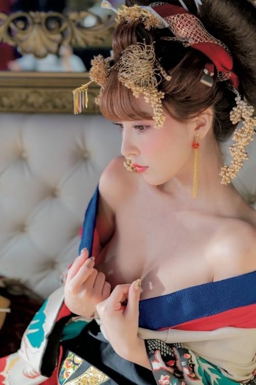 三上悠亜 花魁 コスプレ 06