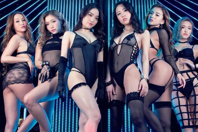 サイバージャパンダンサーズ 黒のランジェリーのセクシー集団。
