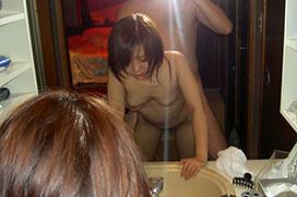 ラブホで洗面所立ちバックを撮影された女性たち晒される・・・