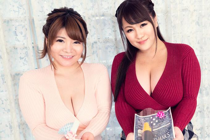 小衣くるみ × 祈里きすみ 爆乳お姉さんと甘いバレンタインプレイ!