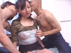 【無修正】鈴木純子 四十路熟女が初めての複数プレイ