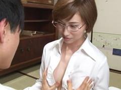 ダイスキ!人妻熟女動画 : 不登校児の家を訪問した美熟女女教師のやりすぎセックス面談 三上千夏