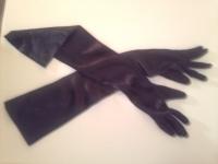 黒サテン肘上手袋