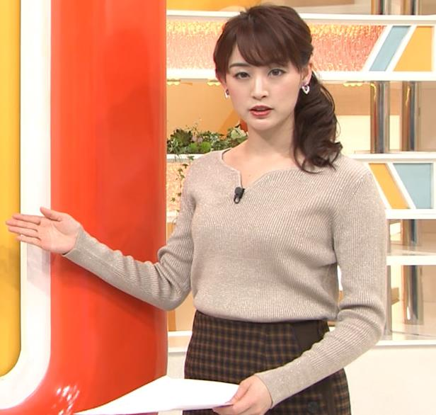 新井恵理那 セクシーニットキャプ・エロ画像5