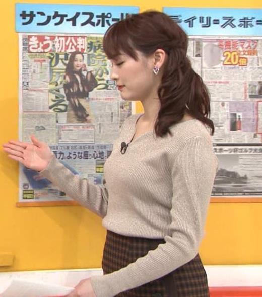 新井恵理那 セクシーニットキャプ画像(エロ・アイコラ画像)