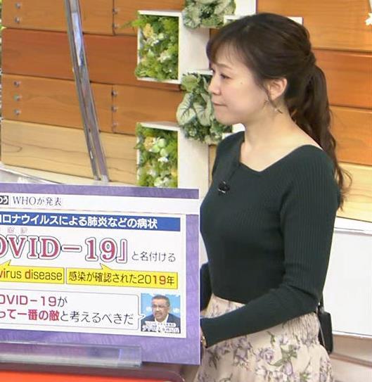 江藤愛アナ エッチなニット横乳★キャプ・エロ画像2