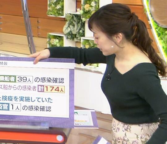 江藤愛アナ エッチなニット横乳★キャプ・エロ画像3