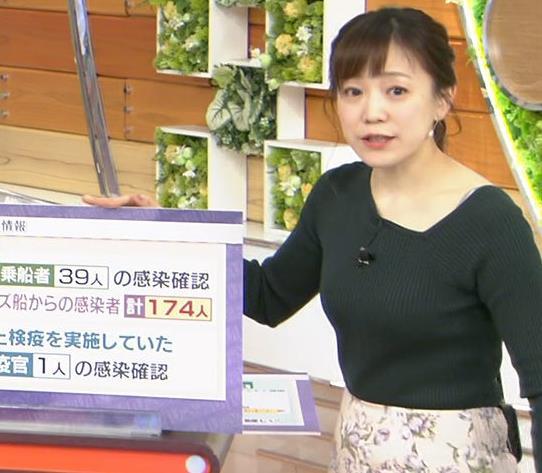 江藤愛アナ エッチなニット横乳★キャプ・エロ画像4