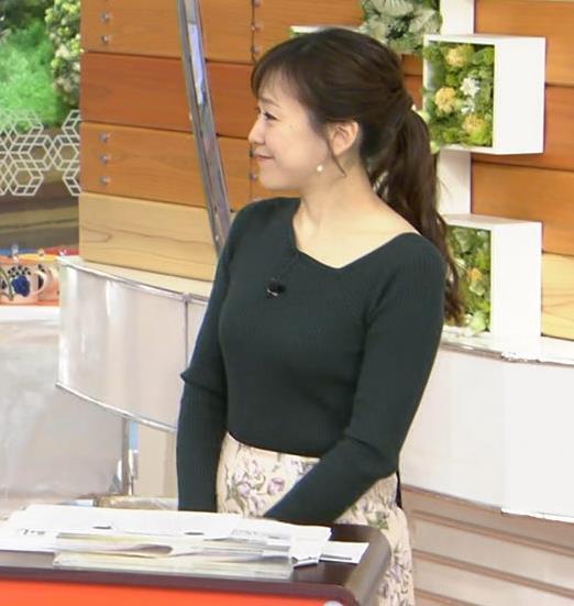 江藤愛アナ エッチなニット横乳★キャプ・エロ画像6