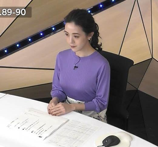古谷有美アナ おっぱいを潰すところキャプ・エロ画像5
